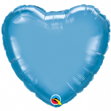 "Blue Chrome Foil Balloon (18"" Heart) 1pc"